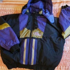 UW Huskies reversible winter jacket gold size xl